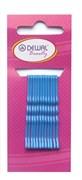 Невидимки синие 50 мм (12 шт) волна Деваль Бьюти (Dewal Beauty) N-12BLUE
