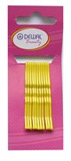 Невидимки желтые 50 мм (12 шт) волна Деваль Бьюти (Dewal Beauty) N-12Yellow