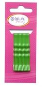 Невидимки зеленые 50 мм (12 шт) волна Деваль Бьюти (Dewal Beauty) N-12GREEN