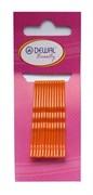 Невидимки оранжевые 50 мм (12 шт) волна Деваль Бьюти (Dewal Beauty) N-12ORANGE