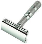 Станок Т- образный для бритья хромированный, разборный, в чехле из натуральной воловьей кожи, Merkur