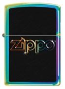 Зажигалка ZIPPO Classic  Rainbow Logo с покрытием Spectrum 151 Rainbow Logo