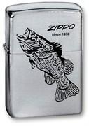Зажигалка Зиппо (Zippo) 200 BLACK BASS