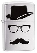 Зажигалка Moustache & Hat Zippo 28648