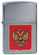 зажигалка широкая Зиппо (Zippo) 200 Герб России