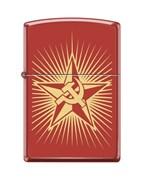 Зажигалка Серп и Молот на Звезде Zippo 233 RUSSIAN HAMMER SICKLE