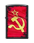 Зажигалка Серп и Молот Зиппо (Zippo) 218 SOVIET FLAG SICKLE