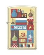Зажигалка открытка из России Зиппо (Zippo) 216 RUSSIAN POSTCARD