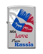 Зажигалка Zippo 205 WITH LOVE FROM RUSSIA