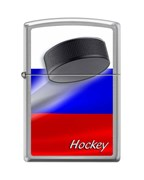 Зажигалка Российский хоккей Зиппо (Zippo) 200 RUSSIAN HOCKEY PUCK