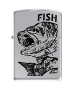 Зажигалка чёрный окунь Зиппо (Zippo) 250 FISH - BIG MOUTH