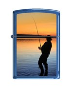 Зажигалка вечерняя рыбалка Зиппо (Zippo) 24534 FISHERMAN