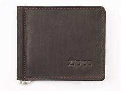 Кожаный двойное портмоне с зажимом для денег Zippo 2005125