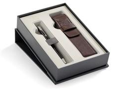 Набор: Шариковая ручка Sonnet Black Lacquer CT + чехол из экокожи Parker 2018900