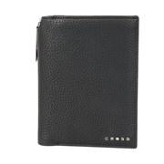 Бумажник для документов Cross Nueva Management Black, с ручкой Cross, кожа наппа, фактурная, черный,