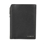 Бумажник для документов Cross RTC Black, с ручкой Cross, кожа наппа, тисненая, черный, 14 х 11 х 1 с