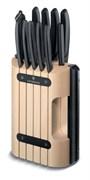 Набор из 11 кухонных ножей в подставке из бука Викторинокс (Victorinox) 6.7153.11