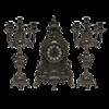 Часы каминные и 2 канделябра Барокко на 5 свечей, под бронзу AL-82-103-C-ANT - фото 186037