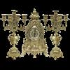 Часы каминные и 2 канделябра Барокко на 5 свечей AL-82-103-C - фото 186118