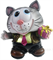 Копилка Котик с подарком (серый) L 14W 11.5 H 15.5см - фото 55721